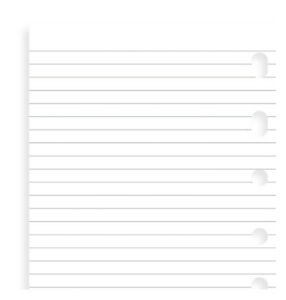 212210 Filofax Pocket White ruled notepad