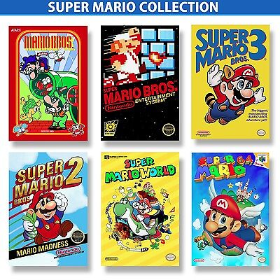 5x7inch 4K Remastered /& Laminated SUPER MARIO BROS Poster Mini Collection Six