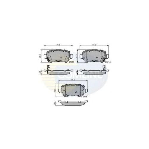 Vauxhall Zafira MK1//A 2.0 DTI 16V 42.8mm Wide Genuine Comline Rear Brake Pads