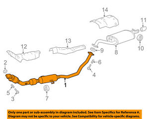 toyota oem 14 18 corolla 1 8l l4 exhaust system front pipe Toyota 22RE Engine Diagram Sensors image is loading toyota oem 14 18 corolla 1 8l l4