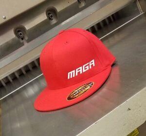 78200c094 Details about MAGA Flat Bill Hat - FlexFit 210 Cap