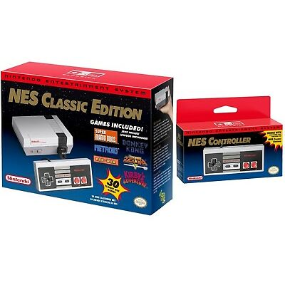 Nintendo Entertainment System: NES Classic Edition + Additional Controller NEW