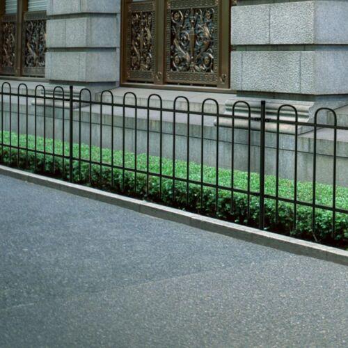 New Garden Fence Patio Security Palisade Steel Hoop Top 60//80//100//120//150 cm