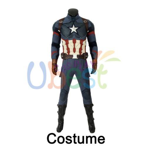 Avengers Endgame Steve Rogers Captain America Cosplay Costume Version 2