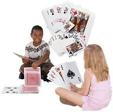 "Jumbo Playing Cards Poker Party Gag Card Tricks Magic Game Kids Gift 8x12"" 38934"