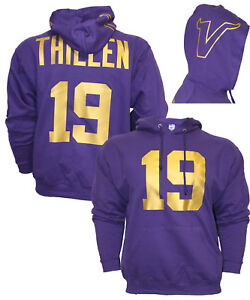 reputable site e3972 4a936 Details about MENS Customized Purple/Gold Hoodie, Any name number, Jersey,  Hoody,Adam Thielen