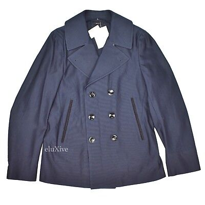 Nwt 3 1k Tom Ford Men S Navy Blue, Cotton Peacoat By Tom Ford