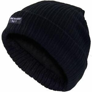 Para-Hombre-Gorro-Sombrero-Negro-Aislado-Termico-De-Punto-Lanudo-Sombrero-de-Invierno-1-7-Tog