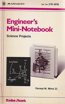 ENGINEER S MINI NOTEBOOKS SCIENCE PROJECTS di Forrest M. Mims 1986? Radio Shaek