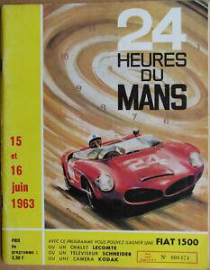24 Heures Du Mans . 1963 . Programme Officiel . Complet . Bel Etat .