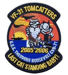 Parche-piloto-VF31-LastCat-Parche-Tela-militar-tomcatters-USS-Theodoore-coser