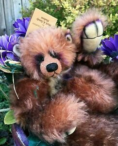 IVY-Artist-Mohair-REDLAND-Teddy-Bears-Positionable-Airbrushed-Accents-Vintage