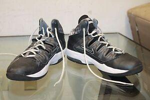 Nike-Air-Max-Stutter-Step-Black-Grey-Men-039-s-Basketball-Shoe-599565-003-Size-9-5
