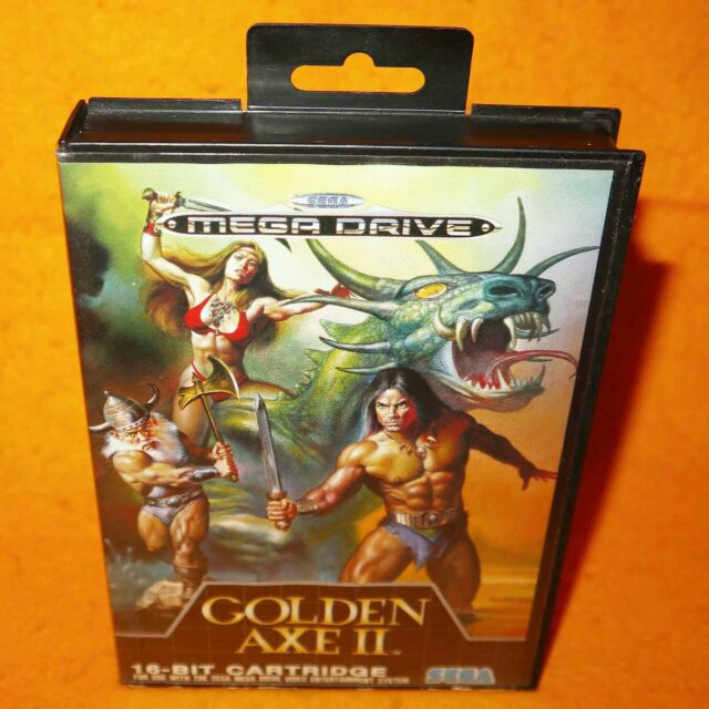 Vintage 1991 SEGA Mega Drive GOLDEN AXE II 2 16-BIT Cartouche Jeu Vidéo PAL