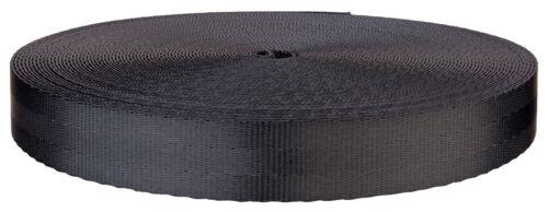 1 Inch 3 Panel Indigo Black Lite Weight Polyester Webbing Closeout 100 Yards
