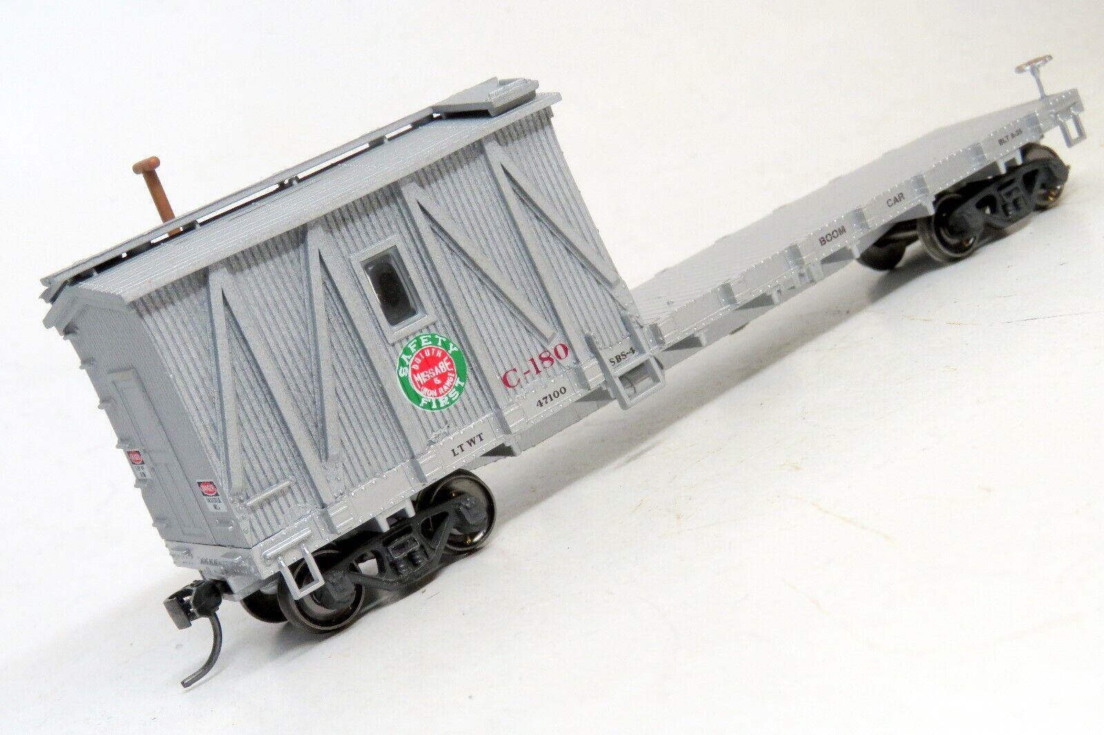 MOW TRAINS HO DULUTH MISSABE & IRON RANGE Crane Tender DMIR Work Train Windows