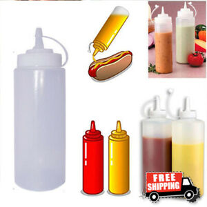 32oz Plastic Squeeze Bottle Ketchup Mustard Sauce Vinegar Condiment Dispenser