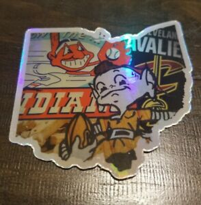 Holographic Cleveland ALL IN ONE Vinyl STICKER - Browns Indians Chief Wahoo Cavs