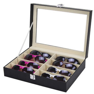 Sunglasses-Eyeglasses-Glass-Jewelry-Display-Box-Case-Storage-Organizer-8-Slots