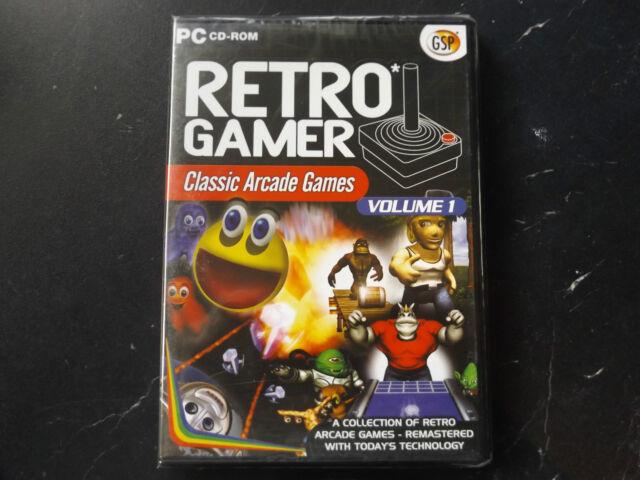 RETRO GAMER VOLUME 1 PC NEW SEALED ( 5 arcade re-makes of classic arcade games )
