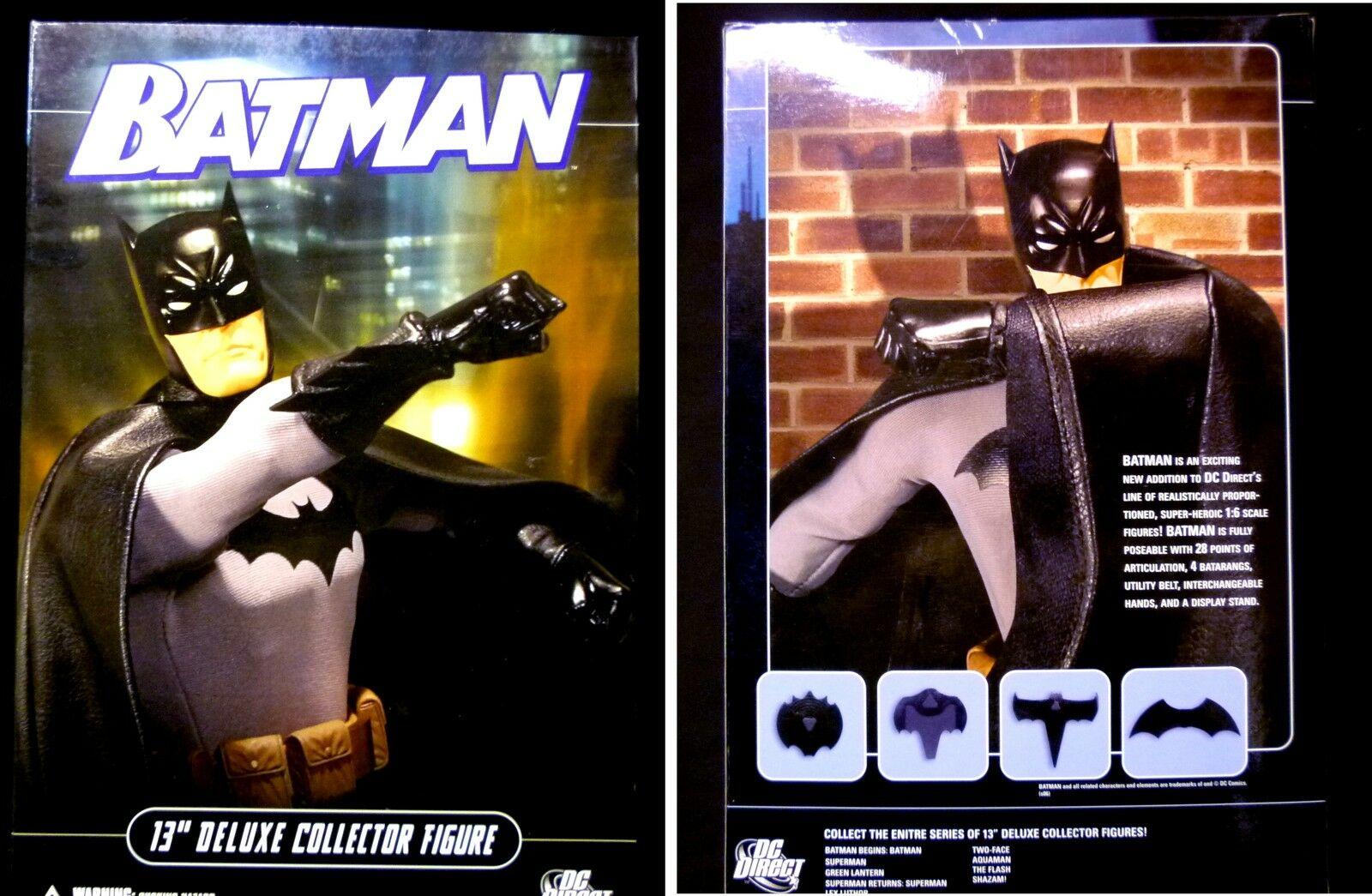 DC Comics Batman 13 Inch Deluxe Boxed Action Figure 1 6 Scale New