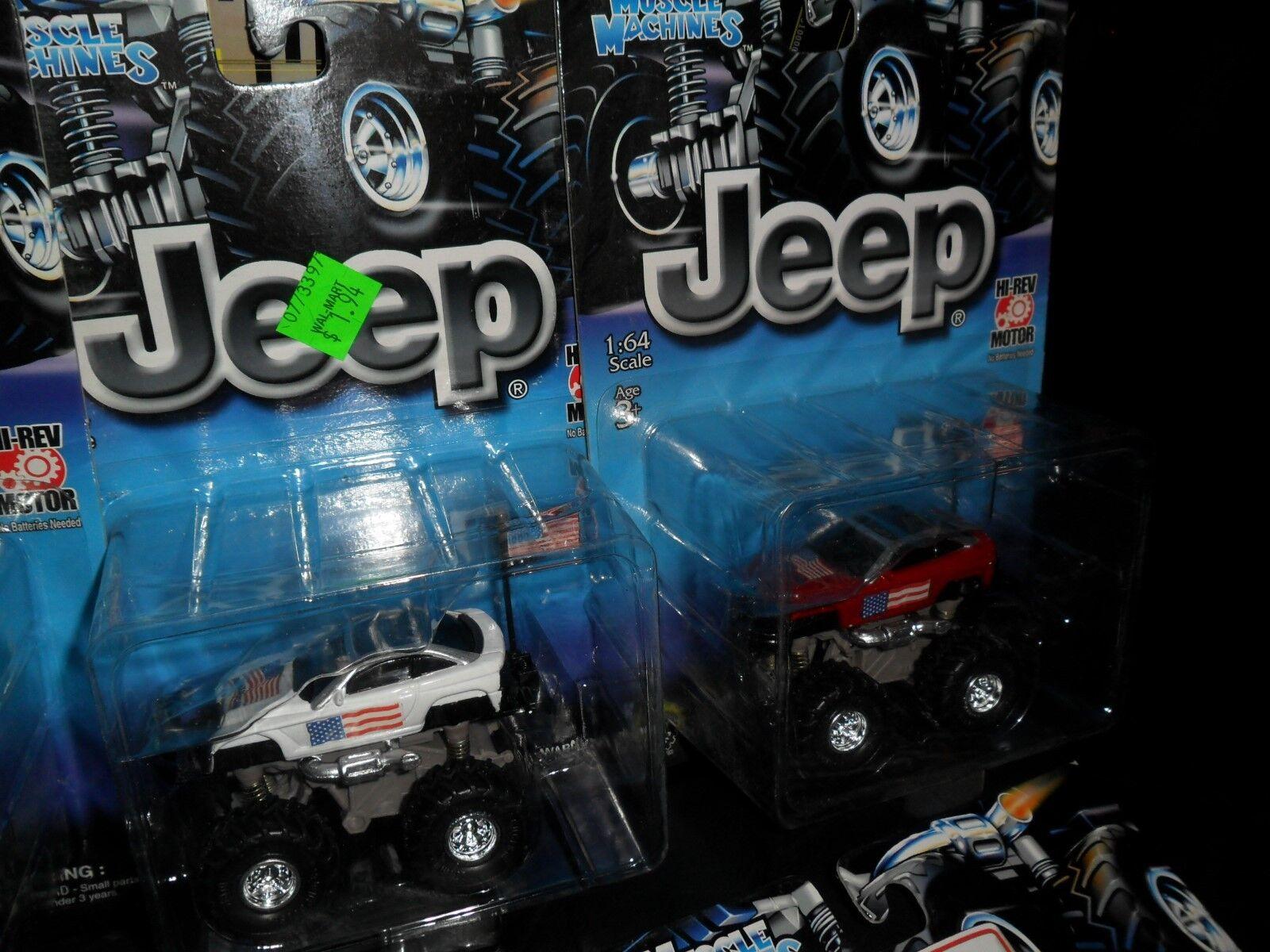 Lote de 7 camión monstruo músculo máquinas Jeep Motorizada Motorizada Motorizada alta rev motor American Flags 373377