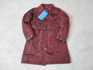 NEW-Piquadro-Trench-Coat-Jacket-Womens-Small-Size-6-EUR-40-Red-Puffer-585