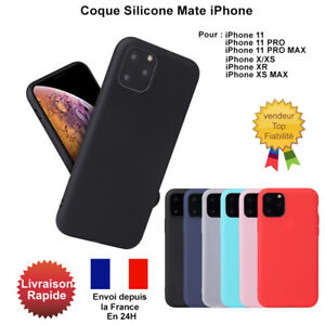 Coque-iPhone-11-iPhone-11-Pro-MAX-iPhone-X-XR-XS-MAX-Protection-en-Silicone-Mat
