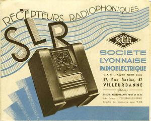 Slr - Radio, DÉpliant Publicitaire AnnÉes 30, Original, Rare E3ap6kco-07234609-636858566