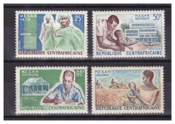 Centrafricaine N° 51 / 54 .serie Complete Neuve ** .superbe. ExtrêMement Efficace Pour Conserver La Chaleur