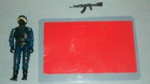 1983 GI Joe Cobra Officer Swivel Arm v1.5 Figure Complete w/ Red Back File Card