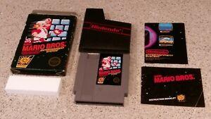 Super-Mario-Bros-Nintendo-NES-Hang-Tab-BLACK-BOX-5-Screw-Complete-CIB-Poster