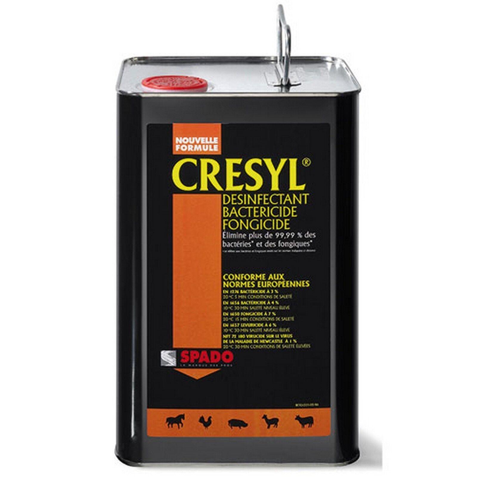 SPADO CRESYL GRESYL nettoyant désinfectant désinfectant désinfectant bactéricide fongicide 5 litres ff865d