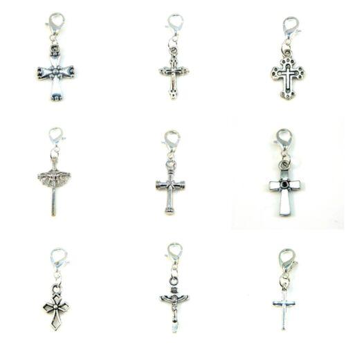 Clip On Charm Silver Charms Celtic Cross Gothic Religious Link Bracelet Pendant