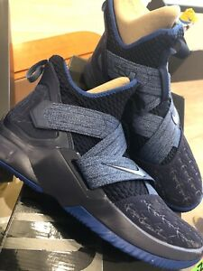 low priced 5c660 38599 Details about NEW NIKE LEBRON XII NAVY BLUE 11 SIZE 12 SZ AO2609 401 SOlDIER