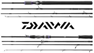 Daiwa Prorex XR Travel Pack 4-teilige Reiserute Nur 66cm Baitcast /& Spinnrute