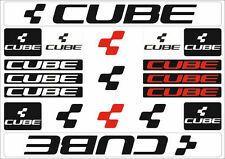 Cube Mountain Bicycle Frame Decals Stickers Graphic Adhesive Set Vinyl Black