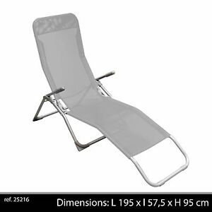 CHAISE LONGUE PLIANTE + POIGNEE TRANSAT JARDIN BAIN DE SOLEIL ... on chaise sofa sleeper, chaise recliner chair, chaise furniture,