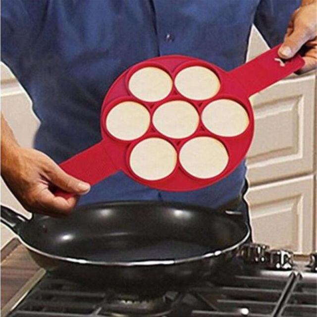 Flipping Fantastic Nonstick Pancake Maker Egg Ring Maker Kitchen Perfect Easy