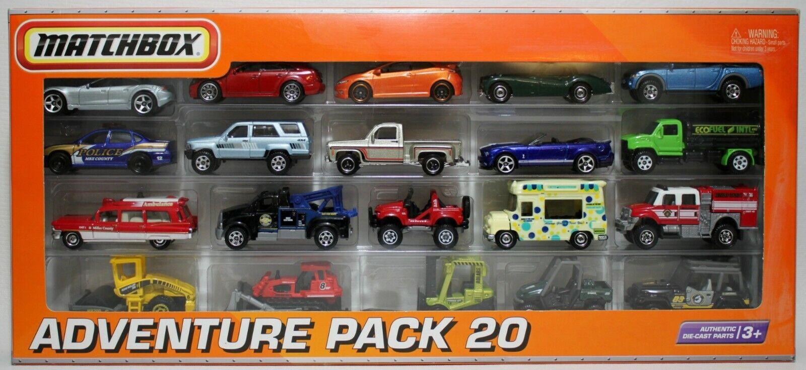 2010 paquete De Aventura Matchbox 20  muy difícil de encontrar Ambulancia Cadillac de Toyota 4 Runner civic