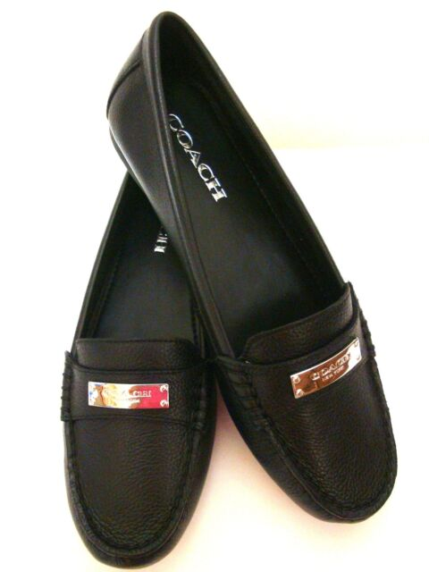 Buy Coach Womens Fredrica Leather Closed Toe Loafers Black ...