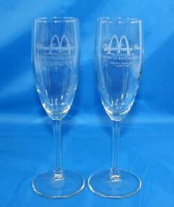 Lot-of-2-Rare-McDonalds-10000th-Restaurant-Toasting-Glasses