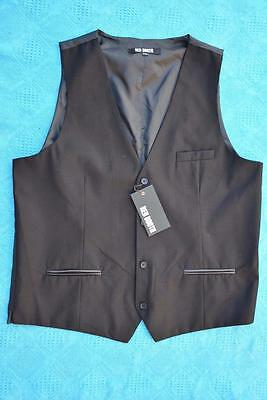 RED BOOTH Black WAISTCOAT-VEST. Size 2XL Stylish. NEW. rrp $69.95 Button Thru.