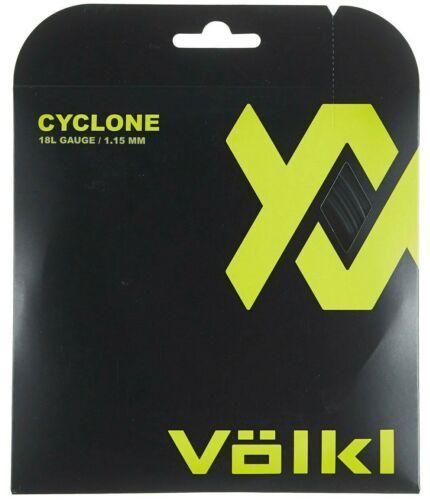 BLACK ONE 12M SET VOLKL CYCLONE TENNIS STRING 1.15MM 18L G RRP £12