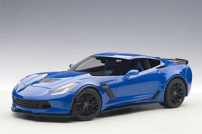 bilkonst 71265 –1  18 Chevrolet Corvette C7 Z06 2014 –Laguna blå Tintbåt - Neu