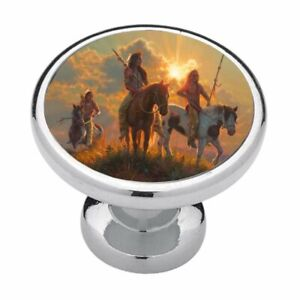 Native Americans Horses Cabinet Knobs Drawer Pulls Kitchen Decor