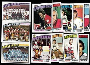 1976-77-OPC-O-PEE-CHEE-NHL-HOCKEY-CARD-amp-ERROR-VARIATION-132-264-SEE-LIST