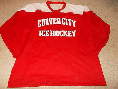 Beautiful Vtg-1990s Culver City Los Angeles California Club Game Worn/used Hockey Jersey Hockey-other Sports Mem, Cards & Fan Shop