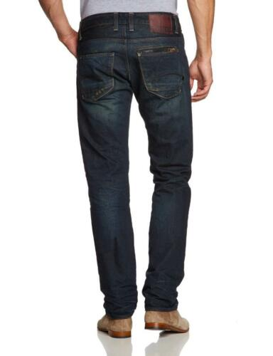 G-STAR RAW ATTACC LOW STRAIGHT DARK AGED Jeans New with Tags 100/% Authentic