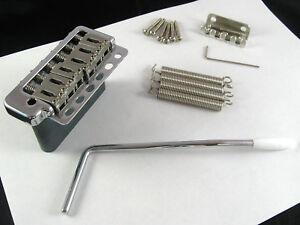 Utile Wilkinson Wvp 6 Sbcr 5+1 Trous Contemporain Strat Tremolo Steel Block Chrome-afficher Le Titre D'origine